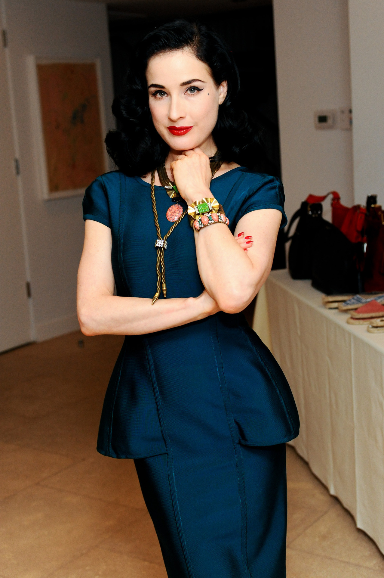 Dita Von Teese attend A Dannijo And Tucker Tea in Beverly Hills, July 26th