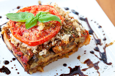 Rustic bread and eggplant lasagna… Recipe