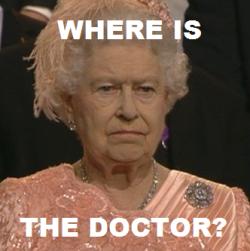 doctor who the doctor meme David Tennant london 2012 The Queen reaction olympics Queen Elizabeth elizabeth II