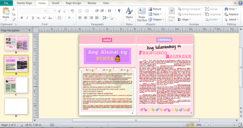making my sister's project in filipino. hayyy. kapuyaaa! :/  #magazine