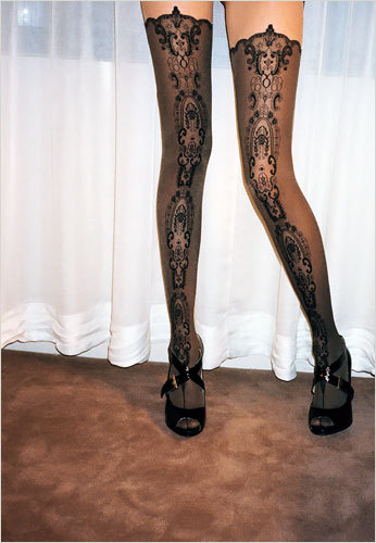 suicideblonde:  Wolford medallion stockings