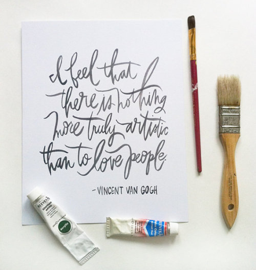 van gogh quote by oh my deer on Etsy