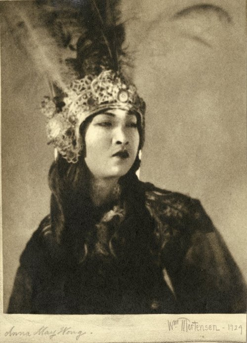 theloudestvoice:  Anna May Wong portrait by William Mortensen  Anna May Wong portrait by William Mortensen from The Thief of Bagdad 1924