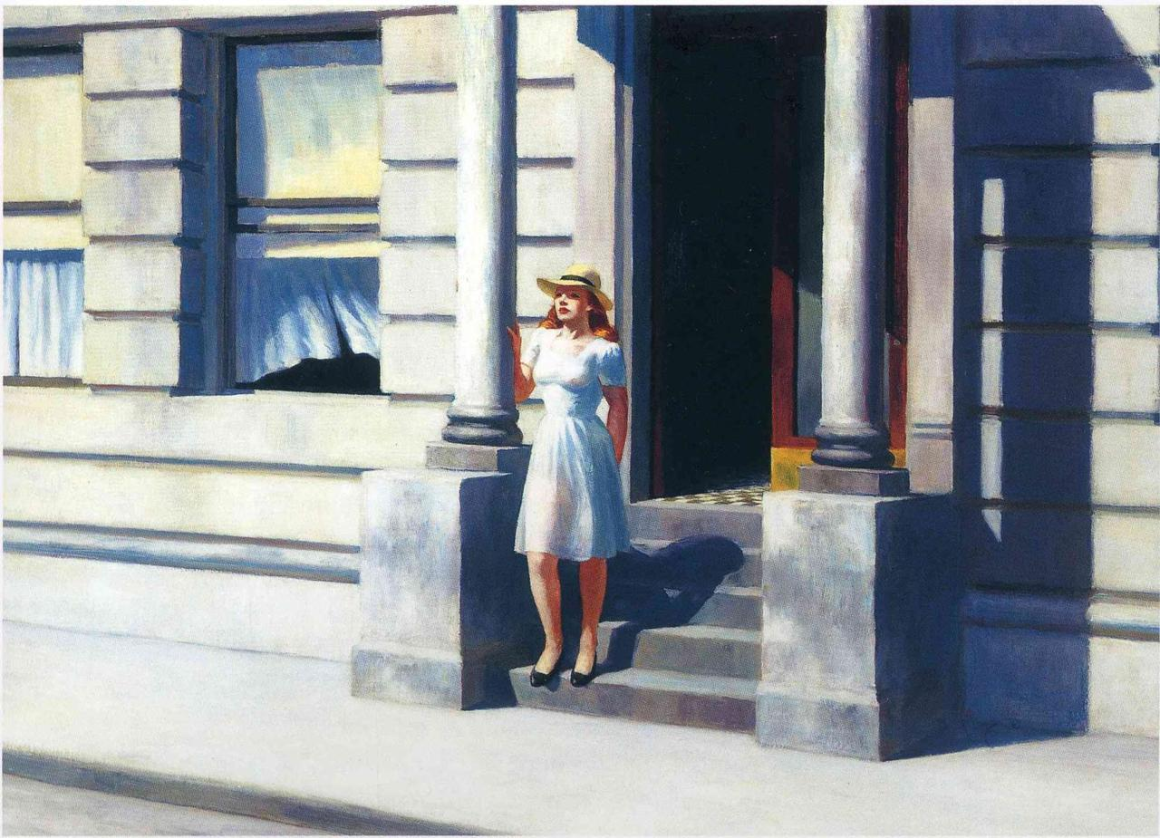 crashinglybeautiful:  Edward Hopper, Summertime.