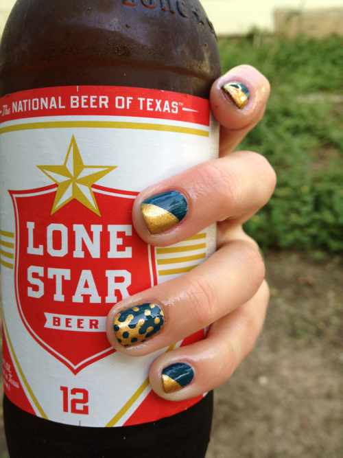 Happy hour nails  Inspired by s-lacquer's interlocking dots tutorial