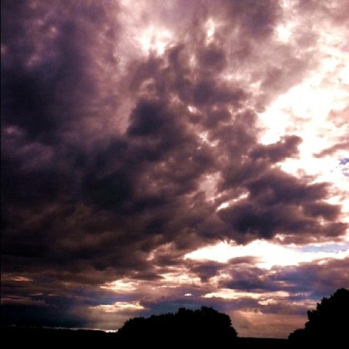 Morning Sky, Home. #sky #clouds #home #contrasts #light #dark #darkness #view #WNY #nature #OurBeautifulWorld  (Taken with Instagram)