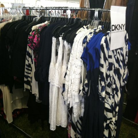 dknyprgirl:  I spy the white peplum dress. 70% off retail all benefitting @OCRF! We all raised $3.5 million last year at #SuperSaturday! (Taken with Pose)