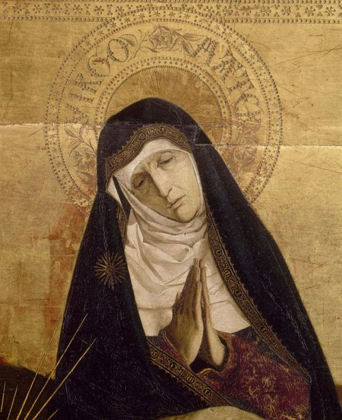 allaboutmary:  Virgo Mater The Pietà of Villeneuve-lès-Avignon, 15th century (detail).