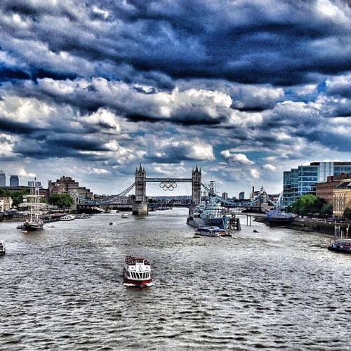 #london2012 (check the warship in River Thames too) (Taken with Instagram at London Bridge)