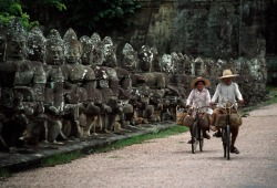 Steve McCurry's, 'The world's ride- Angkhor Thom, Cambodia'  (x)