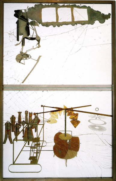 'The Bride Stripped Bare By Her Bachelors Even' Marcel Duchamp 1915-1923 Philadelphia Museum of Art