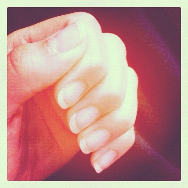 thank you #OPI nail strengthener for helping my nails grow to a lovely length! 💅 (Taken with Instagram)