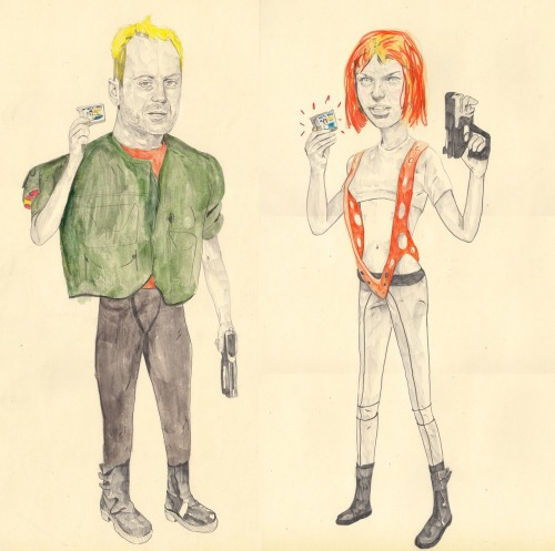 eatsleepdraw:  Korben Dallas and LeeLoo Multipass