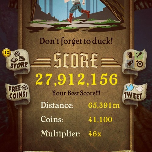 High score! Yeah!! (Taken with Instagram)