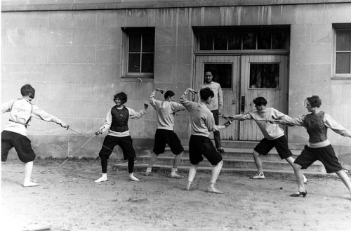 Women's Fencing Practice, ca. 1926  From the Michigan State University Archives