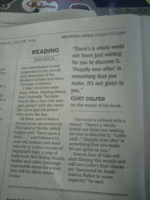 Um, Columbus Dispatch, who the fuck is Curt Colfer?