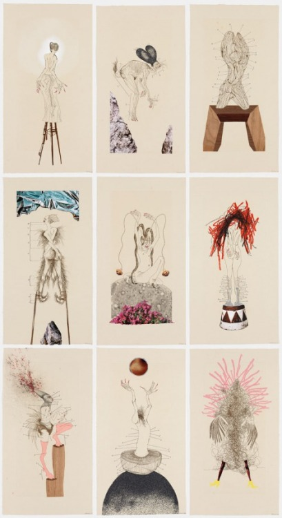 "llapen:  Wangechi Mutu, ""The Original Nine Daughters"""