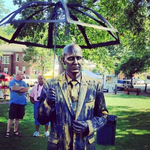 Human statue at the Handy Street Strut #shoals  (Taken with Instagram at Wilson Park)