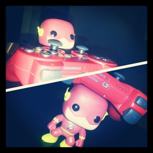 #flash #dc #dcComics #comics #toys #playstation #sony (Taken with Instagram)