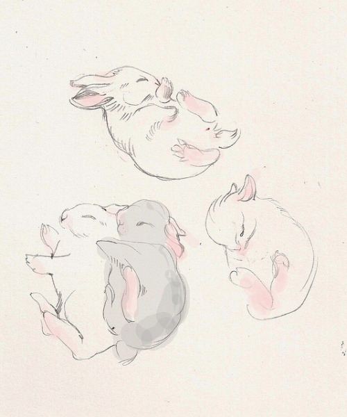 saucerful-of-secrets:  sleepy bunnies by solnechnaya on Flickr.