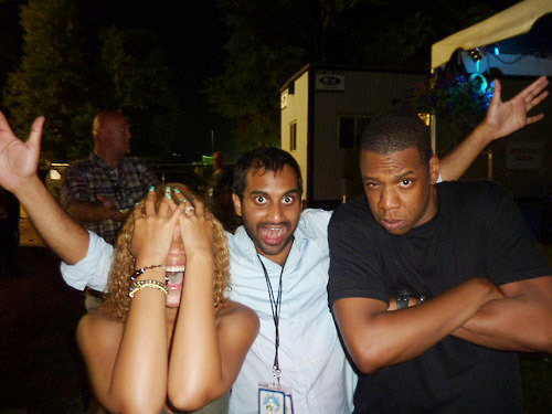 ifthemoonsmiled:  Beyonce, Aziz, and Jay-Z