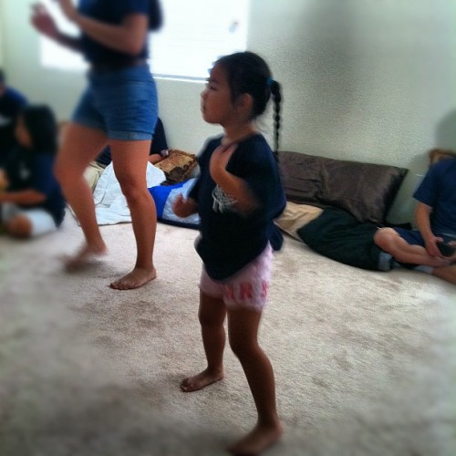 "lil' Jordyn during Zumba: ""i can't clap in Spanish!"" #lasvegas #barcelon #family #funny #cute #quote (Taken with Instagram)"