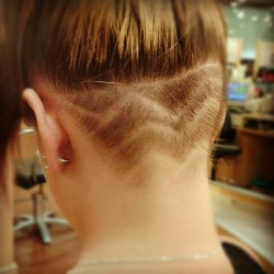 Day 13 art work #gratitude. My hair art. #undercut #buzz #shaved (Taken with Instagram)