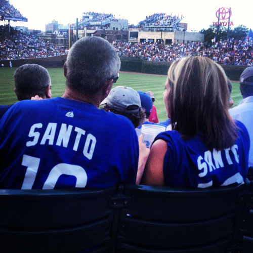 Fans wore their #10 shirts with pride for Ron Santo Day at Wrigley Field.
