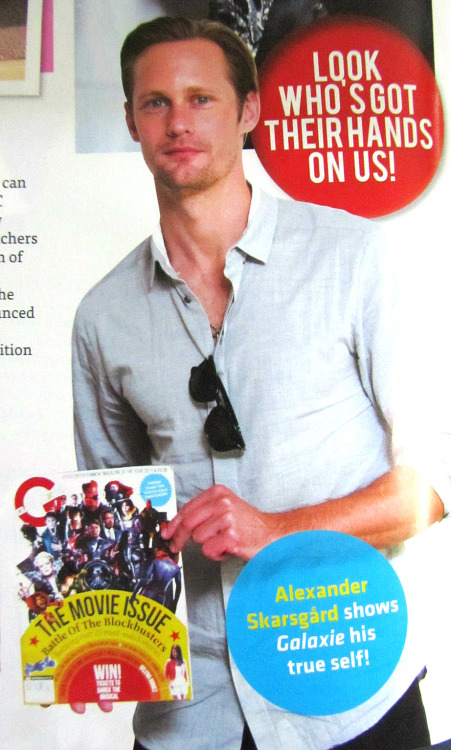 """Alexander Skarsgard is holding Galaxie, a Malaysian entertainment magazine (Pg 14, Galaxie, Issue 17-31 July 2012)"" —rhyden @ twitter"