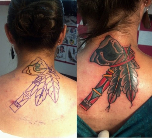 Cover up back tattoo done by Ryan Bailey Hold It Down Tattoo 302 N. Goshen St. Ste. #100 Richmond,VA 23220 (804) 643-3696 Questions or concerns? Need to make an appointment? Give us a call or send an email.