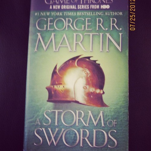 @serious4sirius is currently reading Storm of Swords. What are you reading? #summerofmagic (Taken with Instagram)
