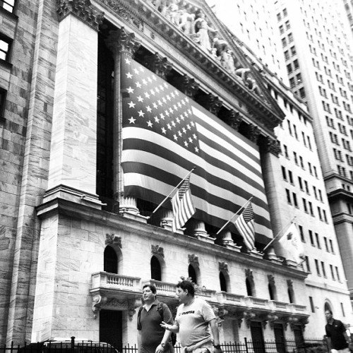 Betsy Ross would be proud… (Taken with Instagram at New York Stock Exchange)