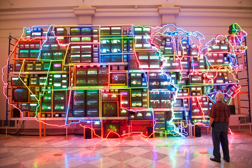 Installation at the National Portrait Gallery (by Tom Bluett)
