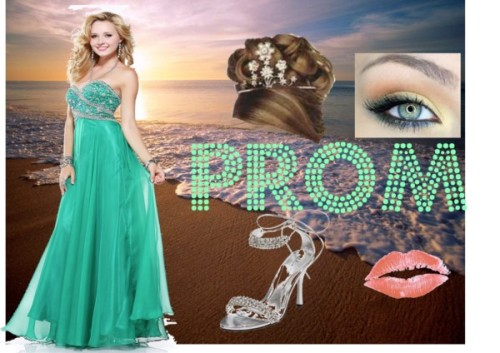 PROM by iluvparis16 featuring a matte lipstickBall gown / Ellie Shoes jeweled sandals / Dahlia matte lipstick
