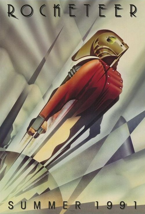 artdecodesire:  The Rocketeer movie poster.