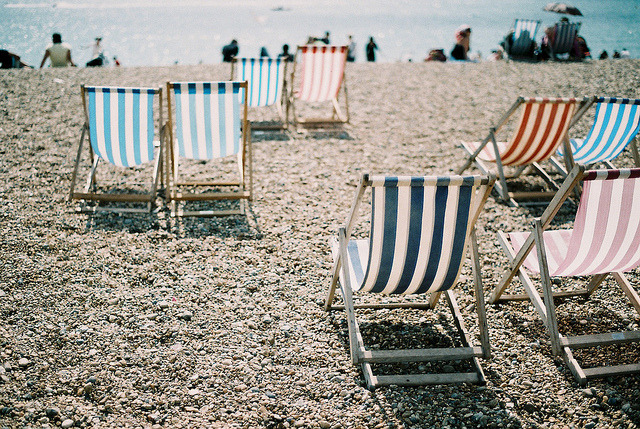 namasteh:  Deckchairs by Tabsinthe on Flickr.