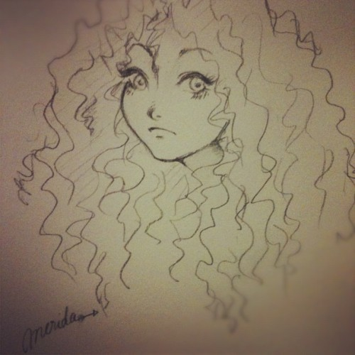 My version of Merida - my current favorite Disney Princess <3 (Taken with Instagram)