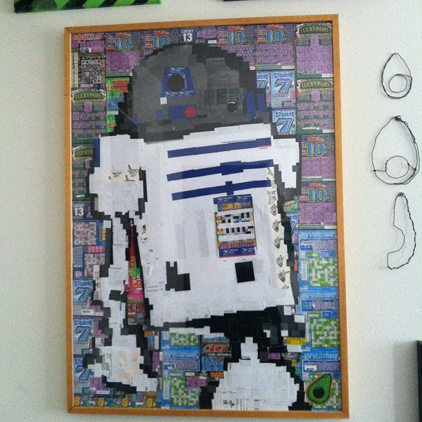 @avocadomigs gets down people #R2D2 #scratchers #dope (Taken with Instagram)