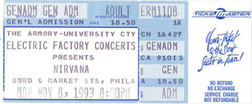 11/8/93 - Drexel University, Philadelphia, PA.
