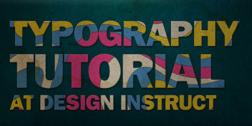 (via Cool Photoshop Typography Tutorials – Part 3)