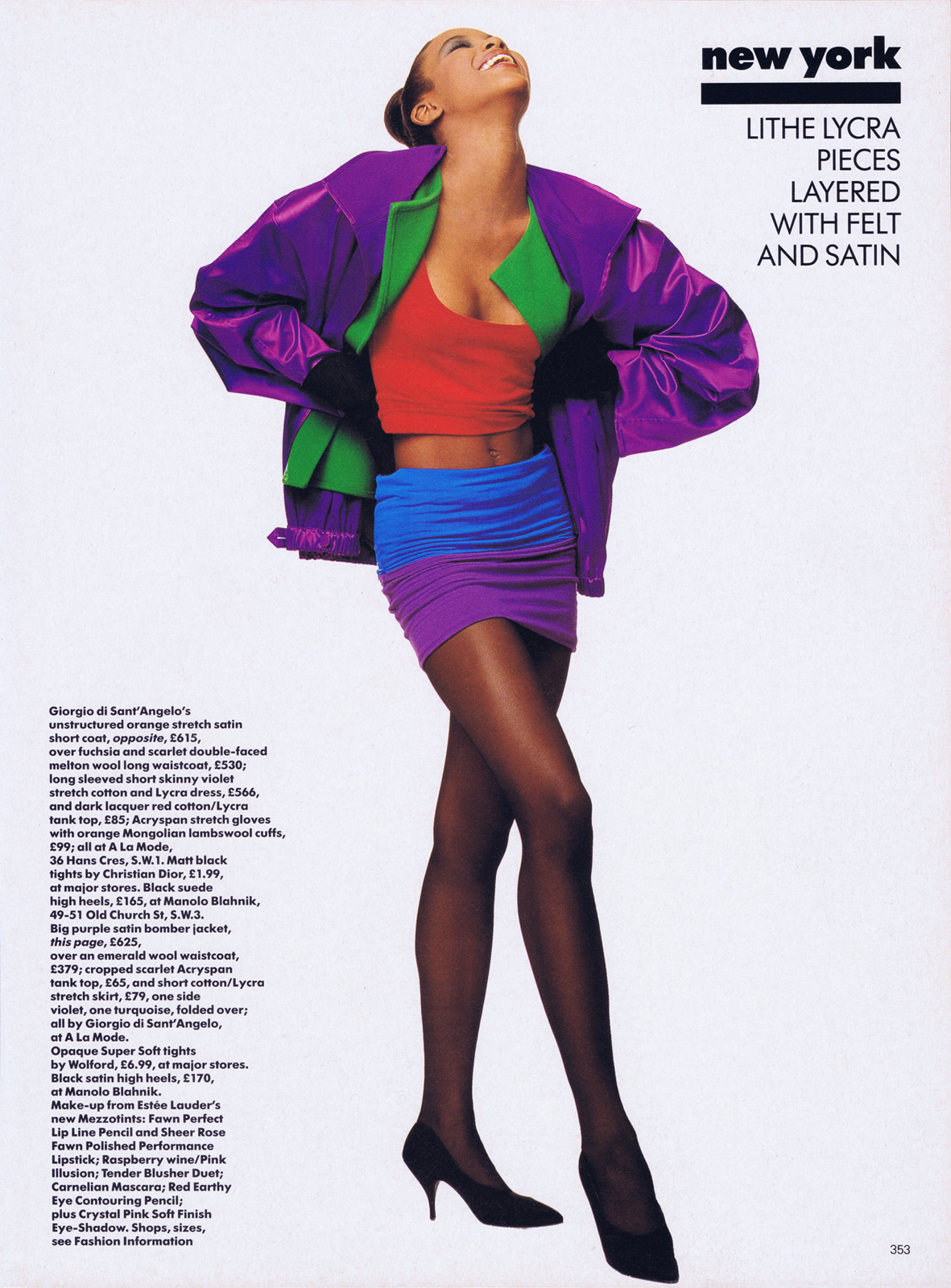 Naomi by Patrick Demarchelier, 1987