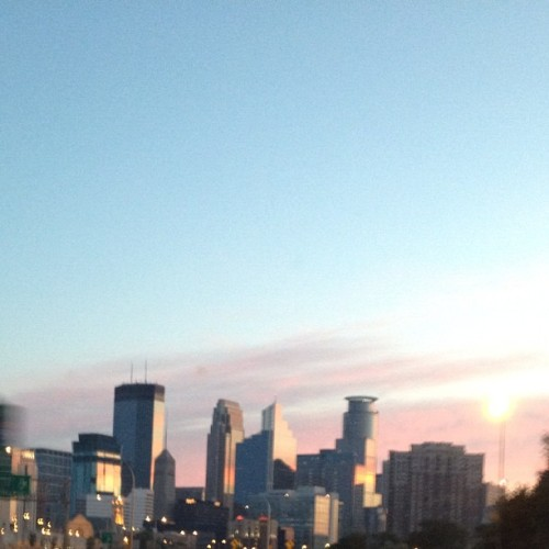 Morning over Minneapolis. #nofilter (Taken with Instagram)