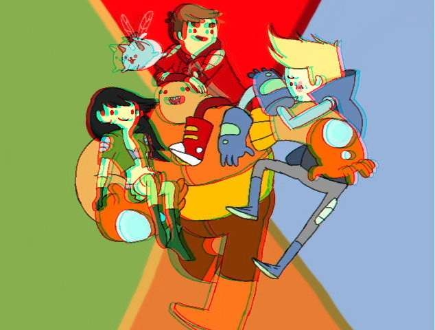 Bravest Warriors in 3D! Submitted by randompicsfromy3ds.