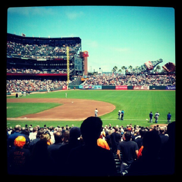 Great dayvfor a ball game! :) (Taken with Instagram)