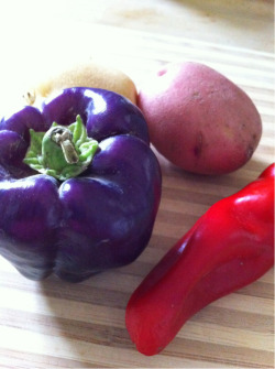 Today's farm pick brought to you by Crooked Sky Farms: purple bell pepper.