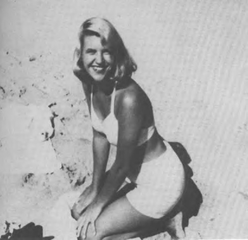 A pinup with a brain and a soul. RIP sweetheart. Sylvia Plath. Circa 1950s.