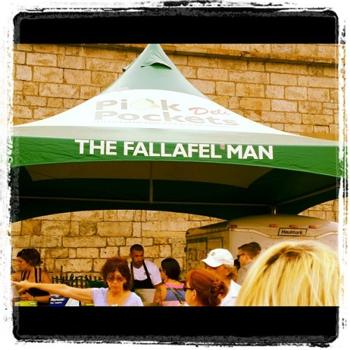 If the Falafel man can't spell it right, who can? (Taken with Instagram at Newport Folk Festival)