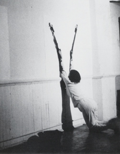 curties:  Ana Mendieta, circa 1970.