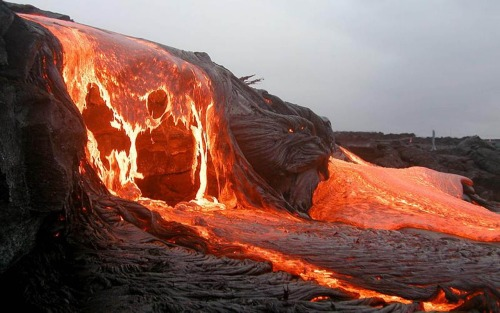 A Stunning Lava fall in Hawaii