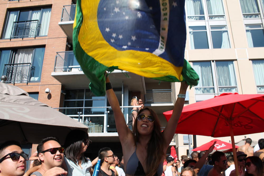 Brazil Flag Sarong Canga in San Diego's Intervention